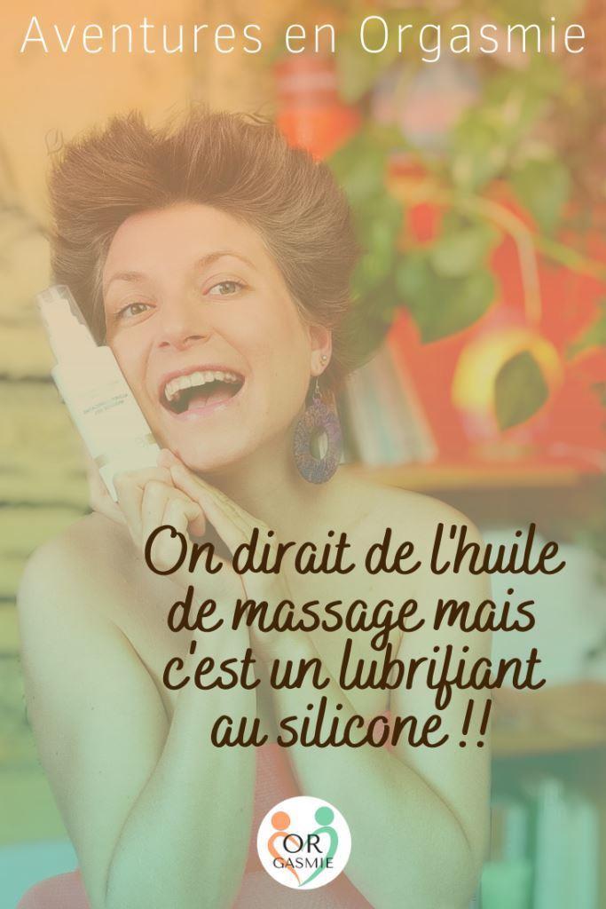 On dirait de l'huile de massage mais c'est un lubrifiant au silicone ! yesforlov, massage intégral lubrifiant