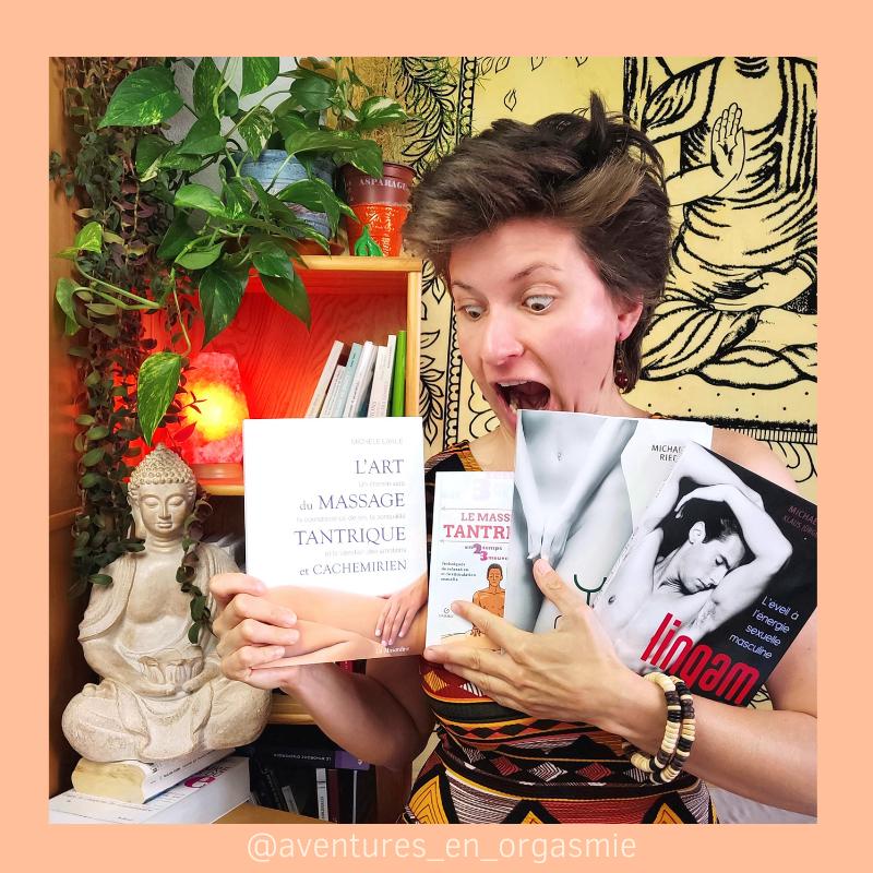 4 livres sur le massage tantrique : cachemirien, lingam et yoni, post insta aventures en orgasmie